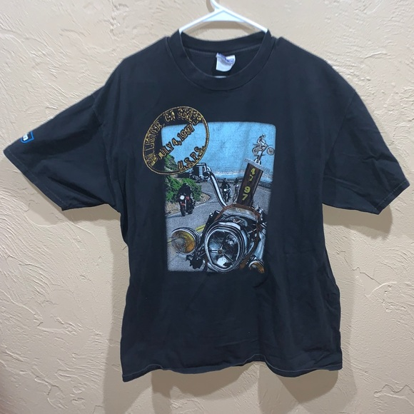 Vintage 1997 Hollister Bike Rally Biker Shirt